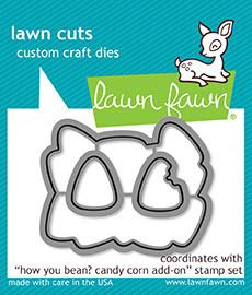 Lawn Fawn Lawn Cuts Custom Craft Die How You Bean? Candy Corn LF1461