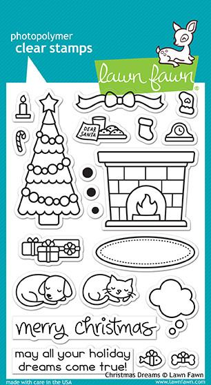 Lawn Fawn Clear Stamps 4'' x  6'' Christmas dreams LF1466