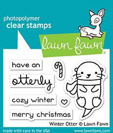 Lawn Fawn Clear Stamps 2'' x  3'' Winter Otter LF1474