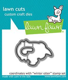 Lawn Fawn Lawn Cuts Custom Craft Die Winter Otter LF1475
