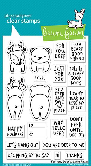 "Lawn Fawn Clear Stamps 4""X6"" For You, Deer LF1480"