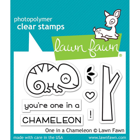 "Lawn Fawn Clear Stamps 3""X2"" One In A Chameleon LF1549"