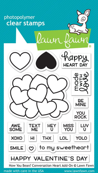 "Lawn Fawn Clear Stamps 3""X2"" How You Bean? LF1553"