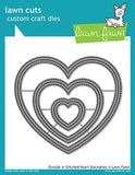 Lawn Cuts Custom Craft Die Outside In Stitched Heart Stackables LF1563