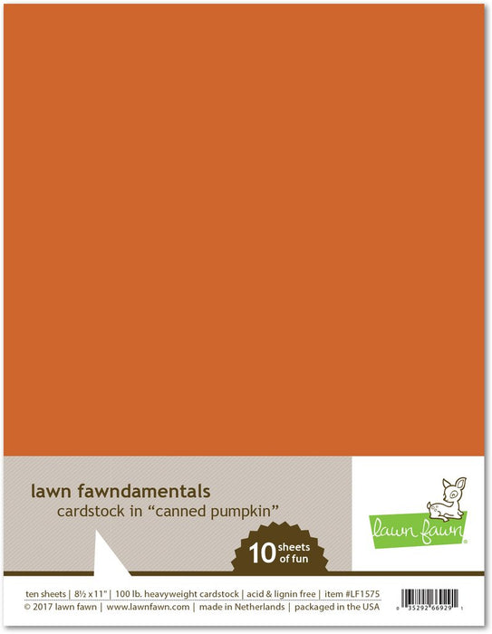 Lawn Fawn Canned Pumpkin Cardstock LF1575