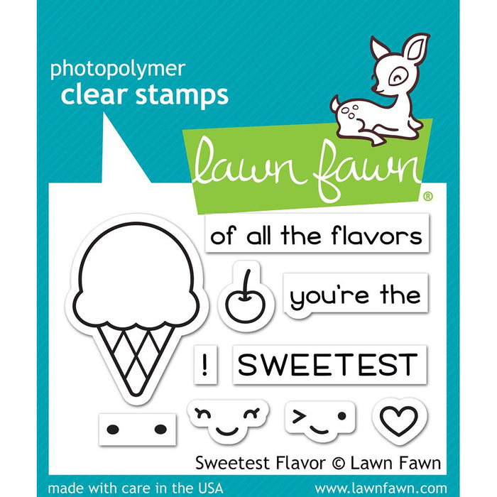 "Lawn Fawn Clear Stamps 3""X2"" Sweetest Flavor LF1698"