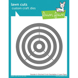 Lawn Fawn Lawn Cuts Custom Craft Die Outside In Stitched Circle Stackables LF1441