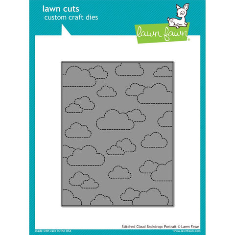 Lawn Fawn Lawn Cuts Custom Craft Die Stitched Cloud Backdrop: Portrait LF1424