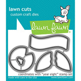 Lawn Cuts Custom Craft Die Year Eight LF1606