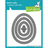 Lawn Cuts Custom Craft Die Easter Egg Frames LF1628