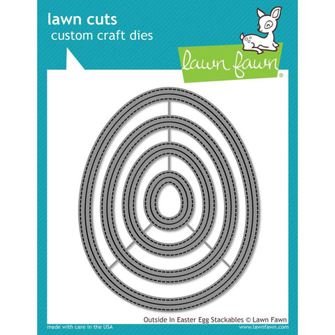 Lawn Cuts Custom Craft Die Outside In Easter Egg Stackables LF1627