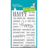 "Lawn Fawn Clear Stamps 4""X6"" Happy Happy Happy LF1334"