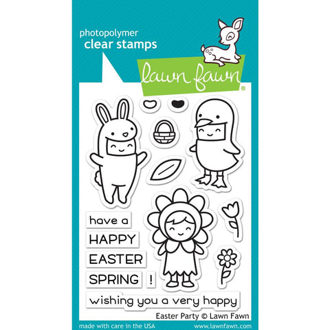 "Lawn Fawn Clear Stamps 3""X4"" Easter Party LF1589"
