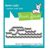Lawn Fawn Lawn Cuts Custom Craft Die Ocean Wave Accents LF1436