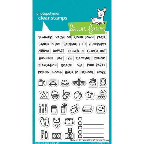 "Lawn Fawn Clear Stamps 4""X6"" Plan On It: Vacation LF1422"