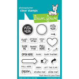 "Lawn Fawn Clear Stamps 3""X4"" Push Here LF1415"