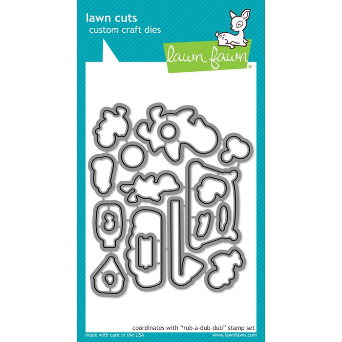Lawn Cuts Custom Craft Die Rub-A-Dub-Dub LF1584