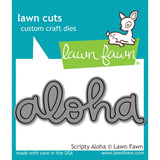 Lawn Fawn Lawn Cuts Custom Craft Die Scripty Aloha LF1431