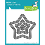 Lawn Cuts Custom Craft Die Stitched Star Frames LF1630