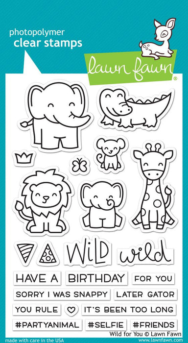 "Lawn Fawn Clear Stamps 4"" x 6"" Wild For You LF1413"