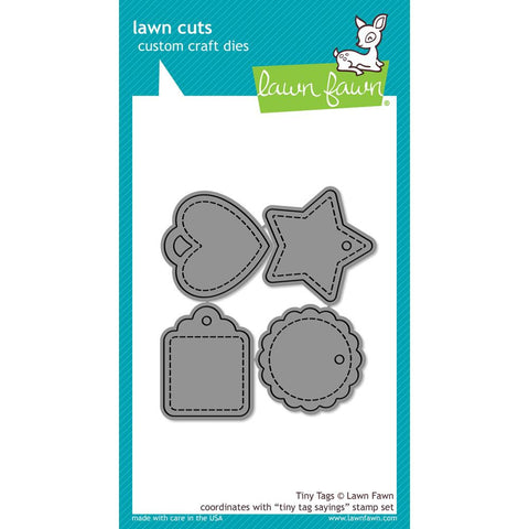 Lawn Fawn Lawn Cuts Custom Craft Die Tiny Tags LF1223