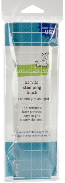 "Lawn Fawn 2"" x 8"" Block With Grip & Grid LF502 