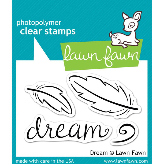 "Lawn Fawn Clear Stamps 3"" x 2"" Dream LF656 