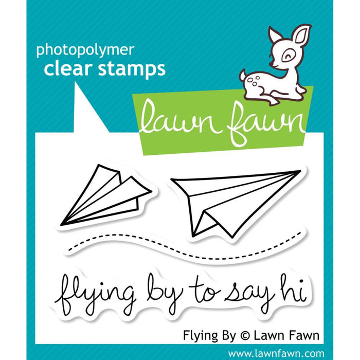 "Lawn Fawn Clear Stamps 3"" x 2"" Flying By LF386 