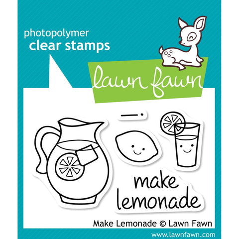 "Lawn Fawn Clear Stamps 3"" x 2"" Make Lemonade LF395 