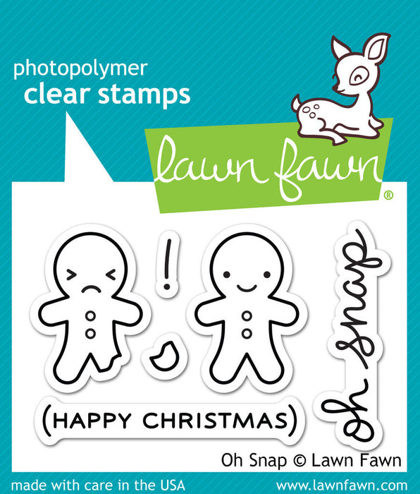 "Lawn Fawn Clear Stamps 3"" x 2"" Oh Snap LF983 