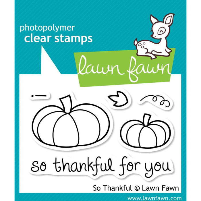 "Lawn Fawn Clear Stamps 3"" x 2"" So Thankful LF432 