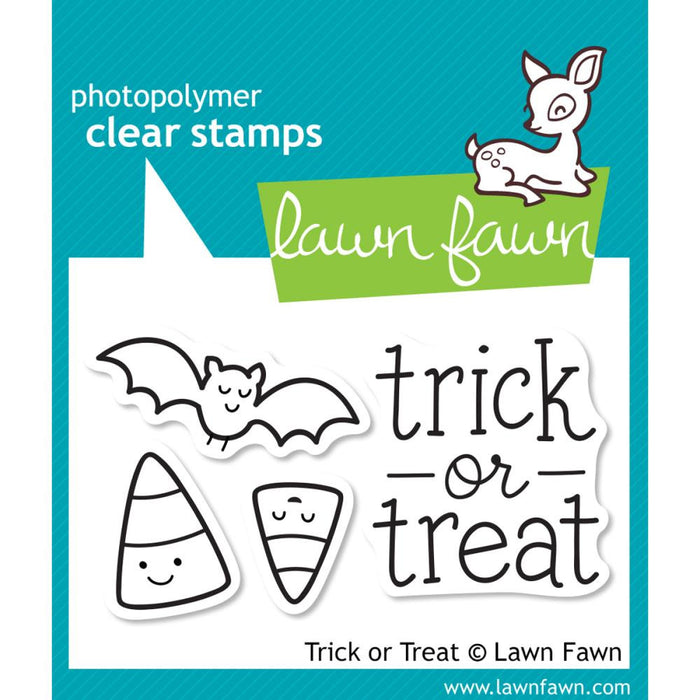"Lawn Fawn Clear Stamps 3"" x 2"" Trick Or Treat LF554 