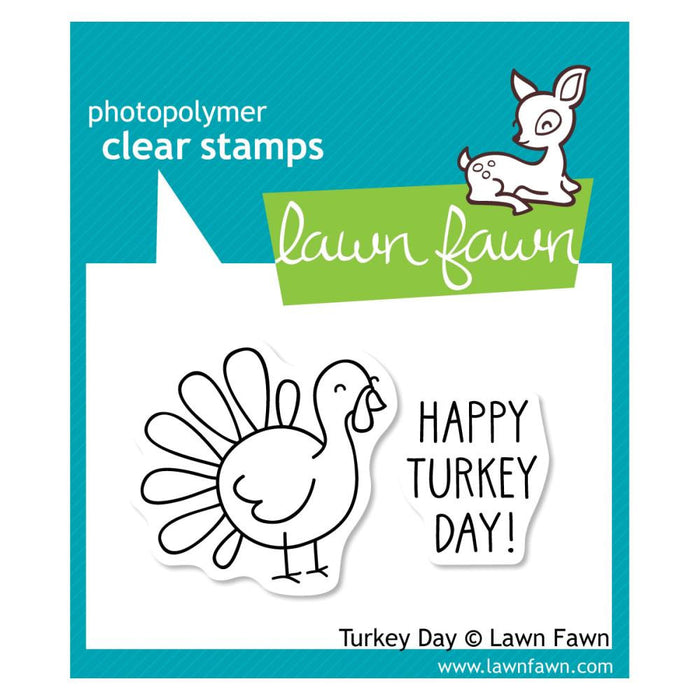 "Lawn Fawn Clear Stamps 3"" x 2"" Turkey Day LF359 