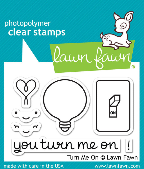 "Lawn Fawn Clear Stamps 3"" x 2"" Turn Me On LF1020 