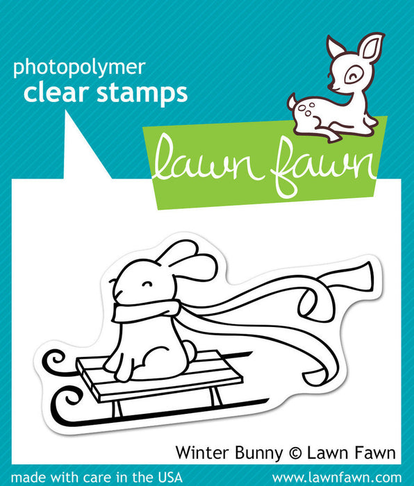 "Lawn Fawn Clear Stamps 3"" x 2"" Winter Bunny LF327 
