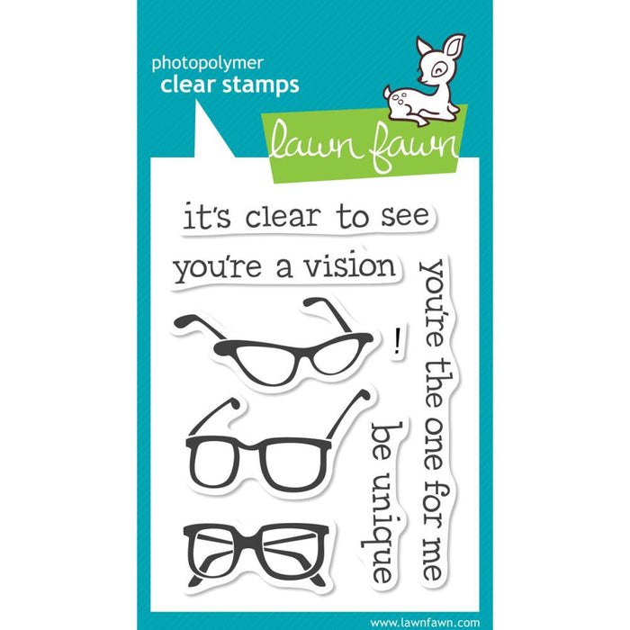 "Lawn Fawn Clear Stamps 3"" x 4"" Clear To See LF354 