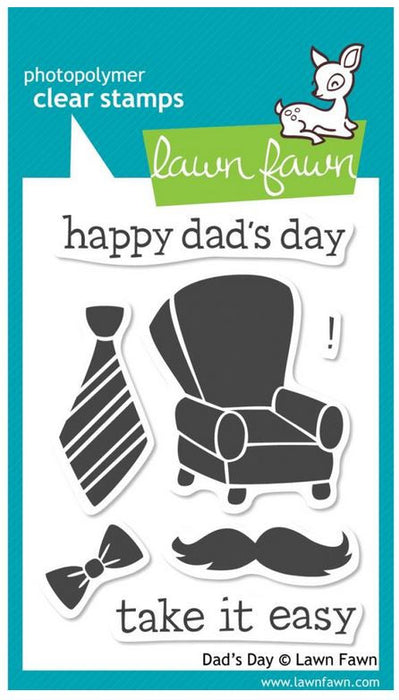 "Lawn Fawn Clear Stamps 3"" x 4"" Dad's Day LF393 