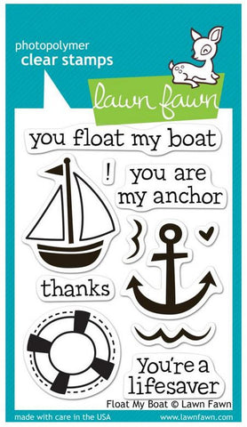 "Lawn Fawn Clear Stamps 3"" x 4"" Float My Boat LF654 