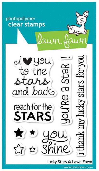 "Lawn Fawn Clear Stamps 3"" x 4"" Lucky Stars LF514 