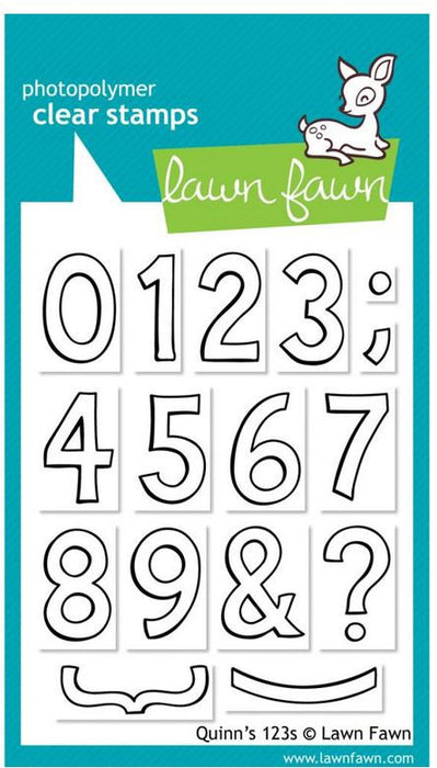 "Lawn Fawn Clear Stamps 3"" x 4"" Quinn's 123s LF392 