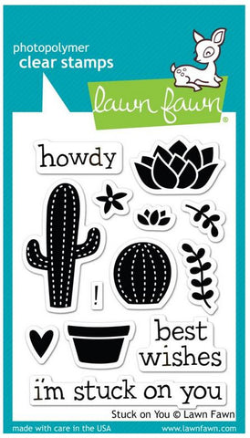 "Lawn Fawn Clear Stamps 3"" x 4"" Stuck On You LF850 