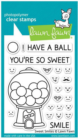 "Lawn Fawn Clear Stamps 3"" x 4"" Sweet Smiles LF895 