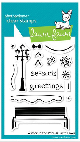 "Lawn Fawn Clear Stamps 3"" x 4"" Winter In The Park LF570 