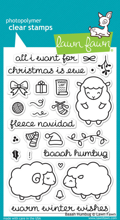 "Lawn Fawn Clear Stamps 4"" x 6"" Baaah Humbug LF939 