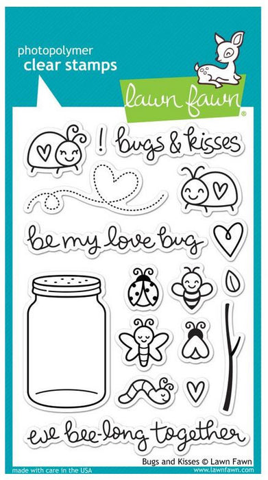 "Lawn Fawn Clear Stamps 4"" x 6"" Bugs & Kisses LF789 
