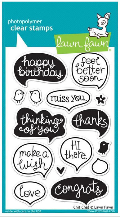 "Lawn Fawn Clear Stamps 4"" x 6"" Chit Chat LF669 