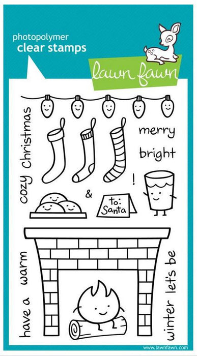 "Lawn Fawn Clear Stamps 4"" x 6"" Cozy Christmas LF334 