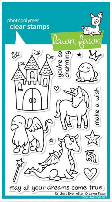"Lawn Fawn Clear Stamps 4"" x 6"" Critters Ever After LF382 