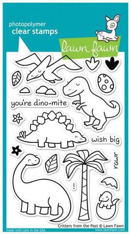 "Lawn Fawn Clear Stamps 4"" x 6"" Critters From The Past LF602 