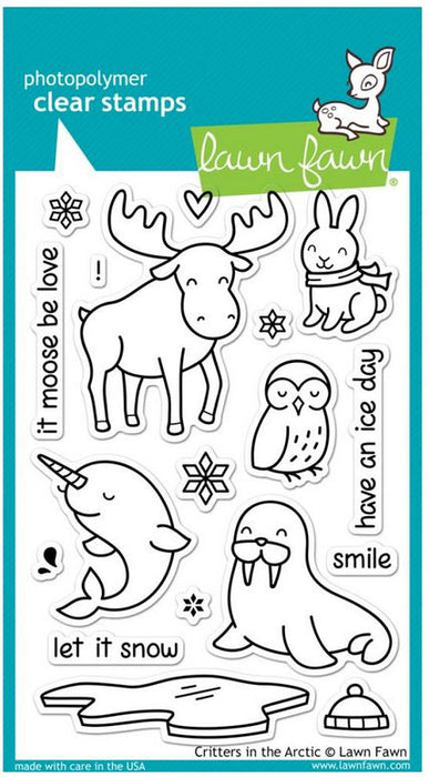"Lawn Fawn Clear Stamps 4"" x 6"" Critters In The Arctic LF708 